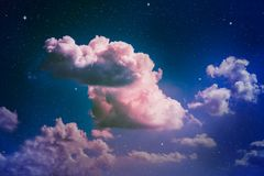 colorful night sky διανυσματική απεικόνιση