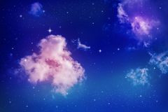 colorful night sky ελεύθερη απεικόνιση δικαιώματος