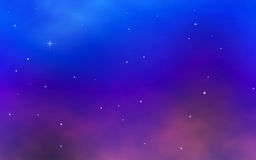 Colorful night sky with bright stars Stock Photo