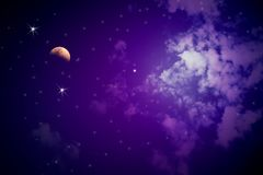 Colorful night sky Royalty Free Stock Image
