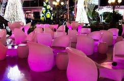 Colorful night street Sharm el-Sheikh. Street Cafe royalty free stock photos