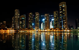 Colorful night view of city Stock Photo