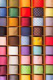 Colorful noname ties on display Royalty Free Stock Photo