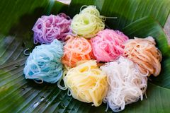 Colorful noodle Royalty Free Stock Photos