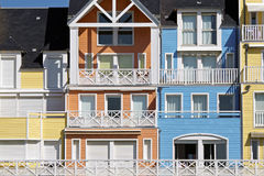 Colorful Normandy houses Royalty Free Stock Image