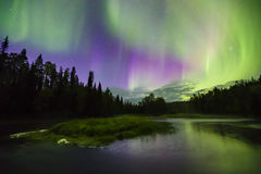 Colorful northern lights (Aurora borealis) in the sky Royalty Free Stock Photo