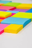 Colorful note pad Stock Images