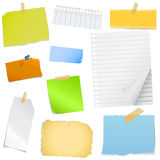 Colorful note paper Stock Image
