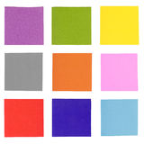 Colorful note paper isolated Stock Image