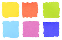 Colorful note paper isolated Stock Photo