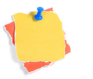 Colorful note paper isolated Royalty Free Stock Image