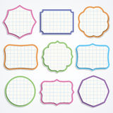 Colorful note paper shapes. Set of colorful note paper shapes. Vector illustration Royalty Free Stock Image