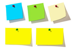 Colorful note papers Royalty Free Stock Photos