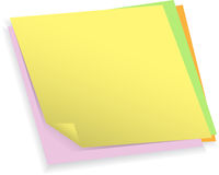 Colorful note papers Stock Image