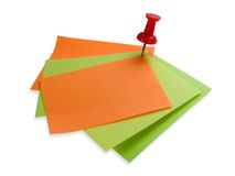 Colorful note papers with red Royalty Free Stock Photography