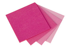 Colorful  note papers on white background Stock Photo