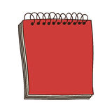 Colorful notebook of spiral in red Royalty Free Stock Photo