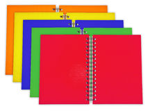 Colorful notebooks Stock Photos