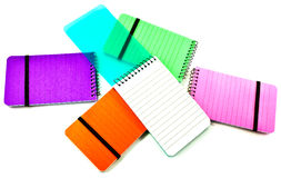 Colorful notebooks Royalty Free Stock Images