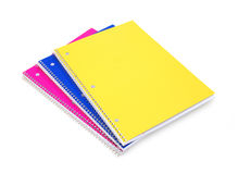 Colorful notebooks Stock Image