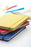 Colorful notebooks Stock Photo