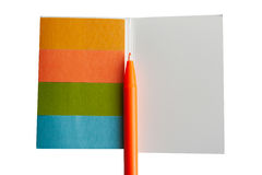 Colorful notepad Royalty Free Stock Photography