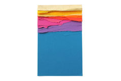 Colorful notepad with ripped pages in rainbow colors Stock Photos