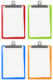 Colorful notepads. Blank notepads in different shiny colors Stock Image