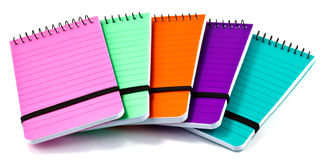 Colorful notepads Stock Photography