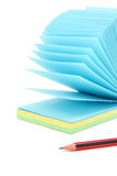 Colorful notepaper and pencil Royalty Free Stock Photography