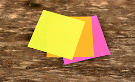 Colorful notepaper stock photo