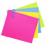 Colorful notes. Color empty notes isolated over white background Royalty Free Stock Photo