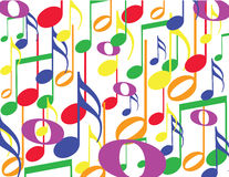 Colorful notes. Colorful musical notes on a white background Vector Illustration