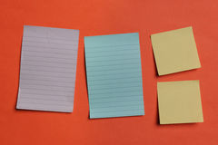 Colorful Notes on a Board Stock Photos