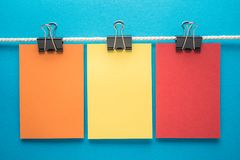 Colorful notes paper Royalty Free Stock Photo
