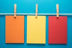 Colorful notes paper Stock Photography