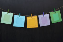 Colorful notes on primako. Colorful notes on small primako Royalty Free Stock Photo