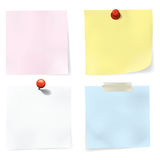 Colorful Notes Set Royalty Free Stock Photos