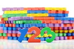Colorful number mat Stock Image