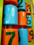 Colorful number play. Colorful roller number in playground Stock Image