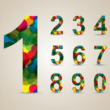 Colorful number set Stock Images