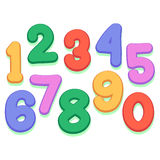 Colorful Number Set Royalty Free Stock Photo