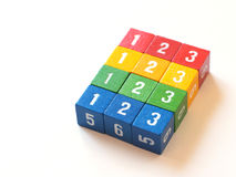Colorful numbered blocks for learning (II) royalty free stock images