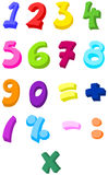 Colorful numbers Royalty Free Illustration