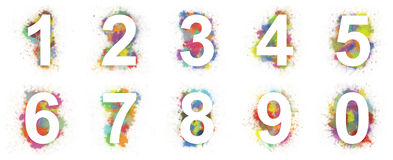 Colorful numbers Stock Image