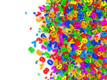 Colorful Numbers Abstract Background Royalty Free Stock Photography