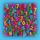 Colorful numbers. Abstract 3D background Royalty Free Stock Photography