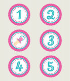 Colorful numbers, baby collection Royalty Free Stock Photos