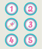 Colorful numbers, baby collection Stock Photography