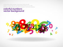 Colorful numbers background_2 Stock Photo